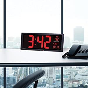 Amazoncom AcuRite 75100 Large Digital Clock with Indoor