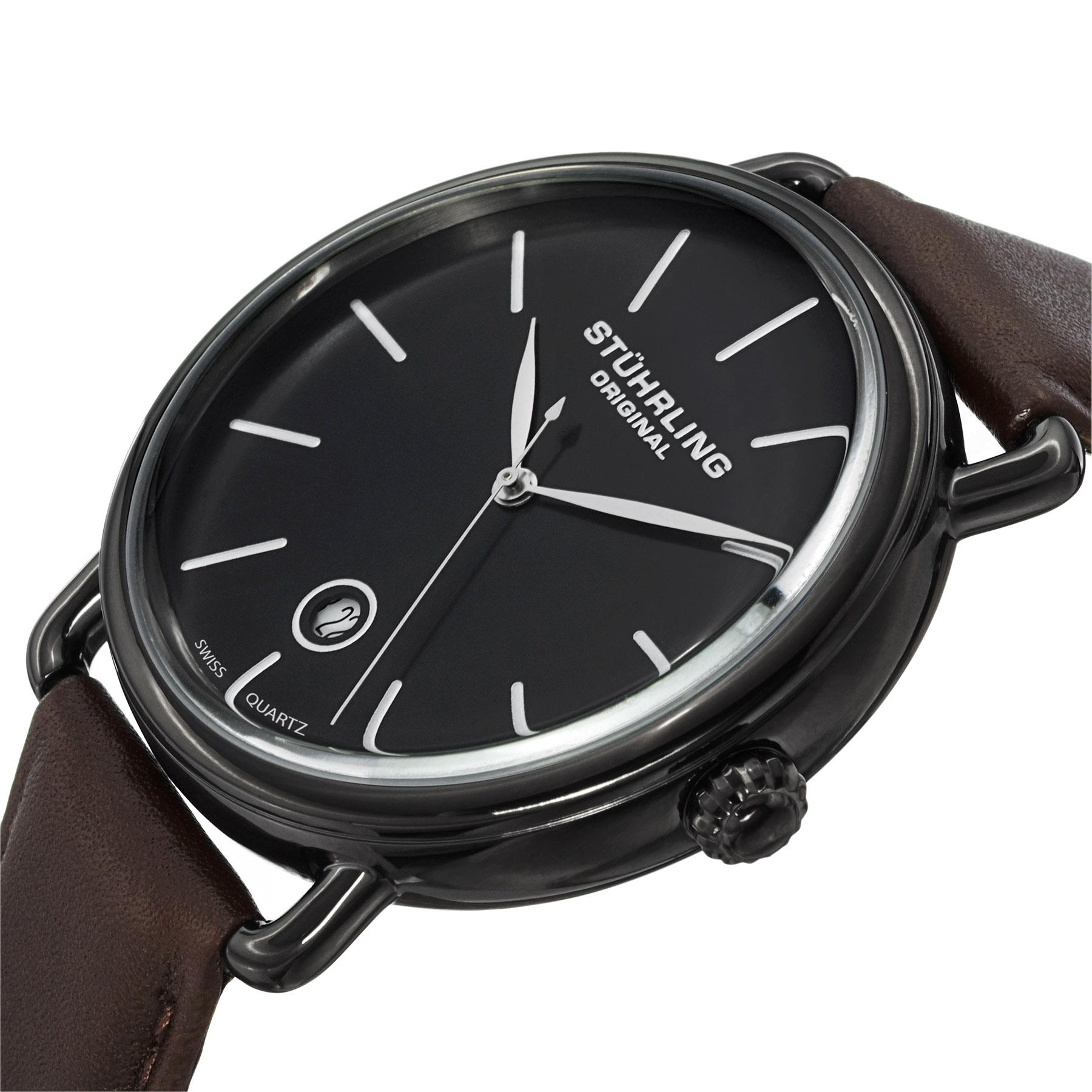 buy stuhrling original classic analog black dial men s watch from the manufacturer