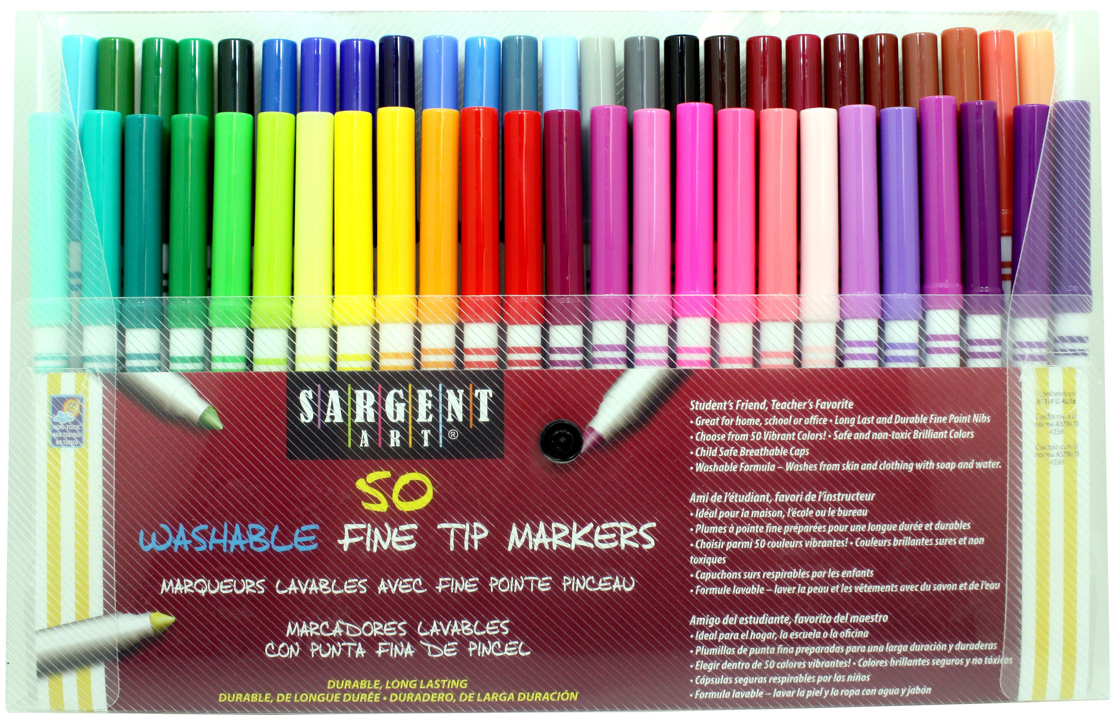 Color Marker Set Washable Coloring Book Markers Fine Bullet Felt Tip Kids Adult