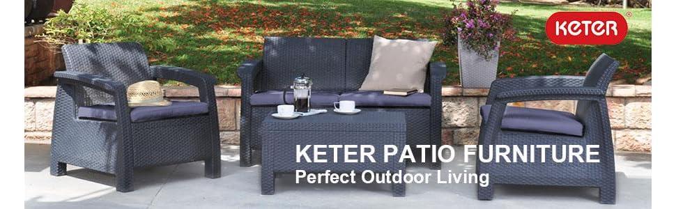 Amazon.com: Juego de 4 piezas de muebles de jardín ...