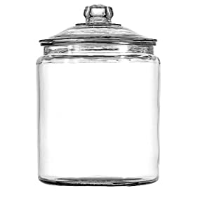 anchor hocking;heritage hill;glass;jar;pantry;storage;durable;made in the usa