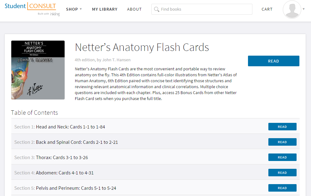 Buy Netter\'s Anatomy Flash Cards: with Online Student Consult Access ...