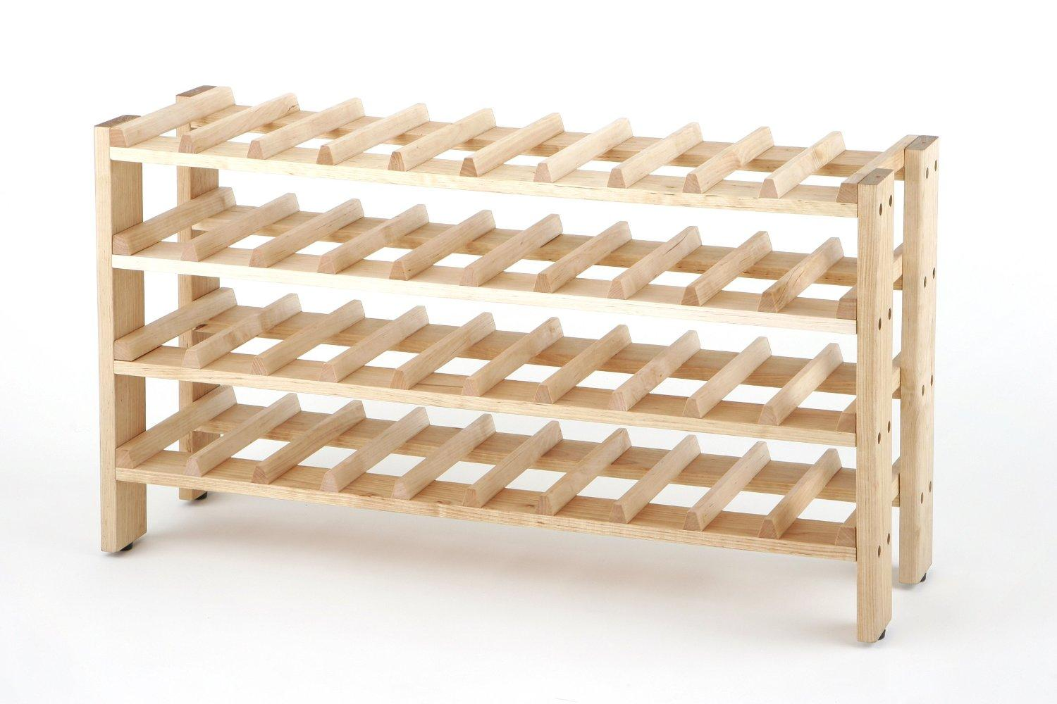 Wine Racks For Home: Amazon.com: Seville Classics 40-Bottle Birchwood Wine Rack