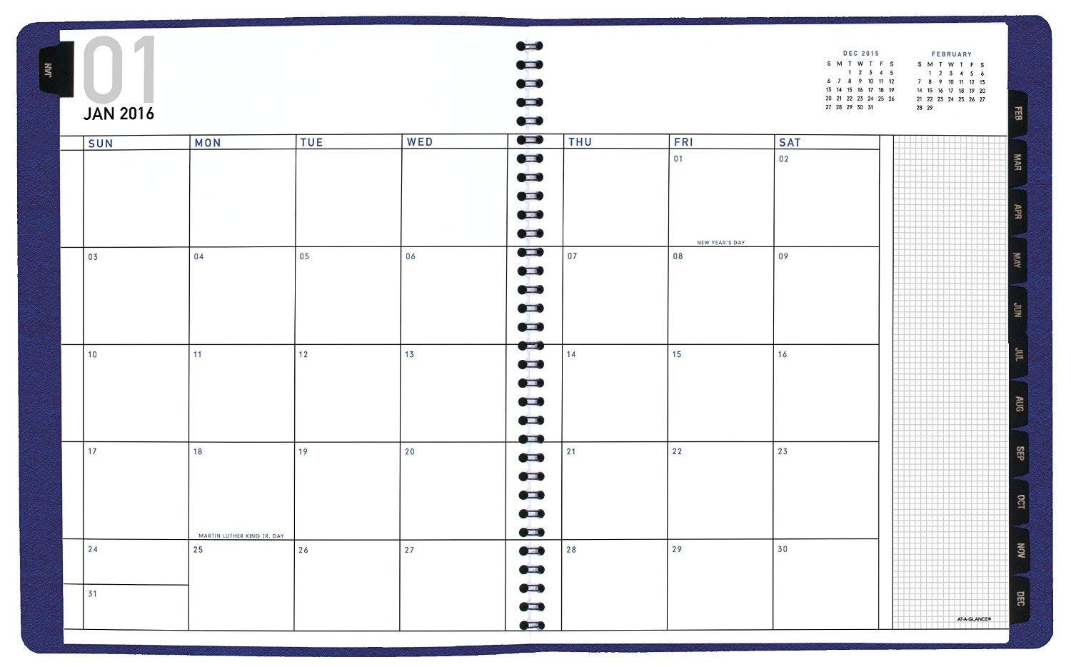 amazon com at a glance monthly planner 2016 8 5 x 11 inches