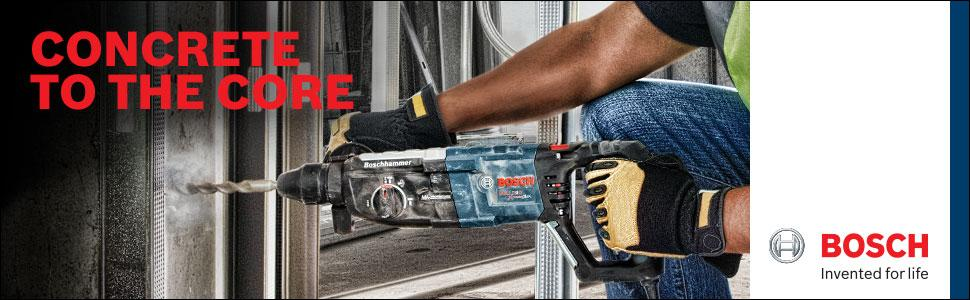 Bosch 11255VSR Bulldog Xtreme - 8 Amp 1 in. Corded Variable Speed Sds-Plus Concrete/Masonry Rotary Hammer Power Drill with Carrying Case
