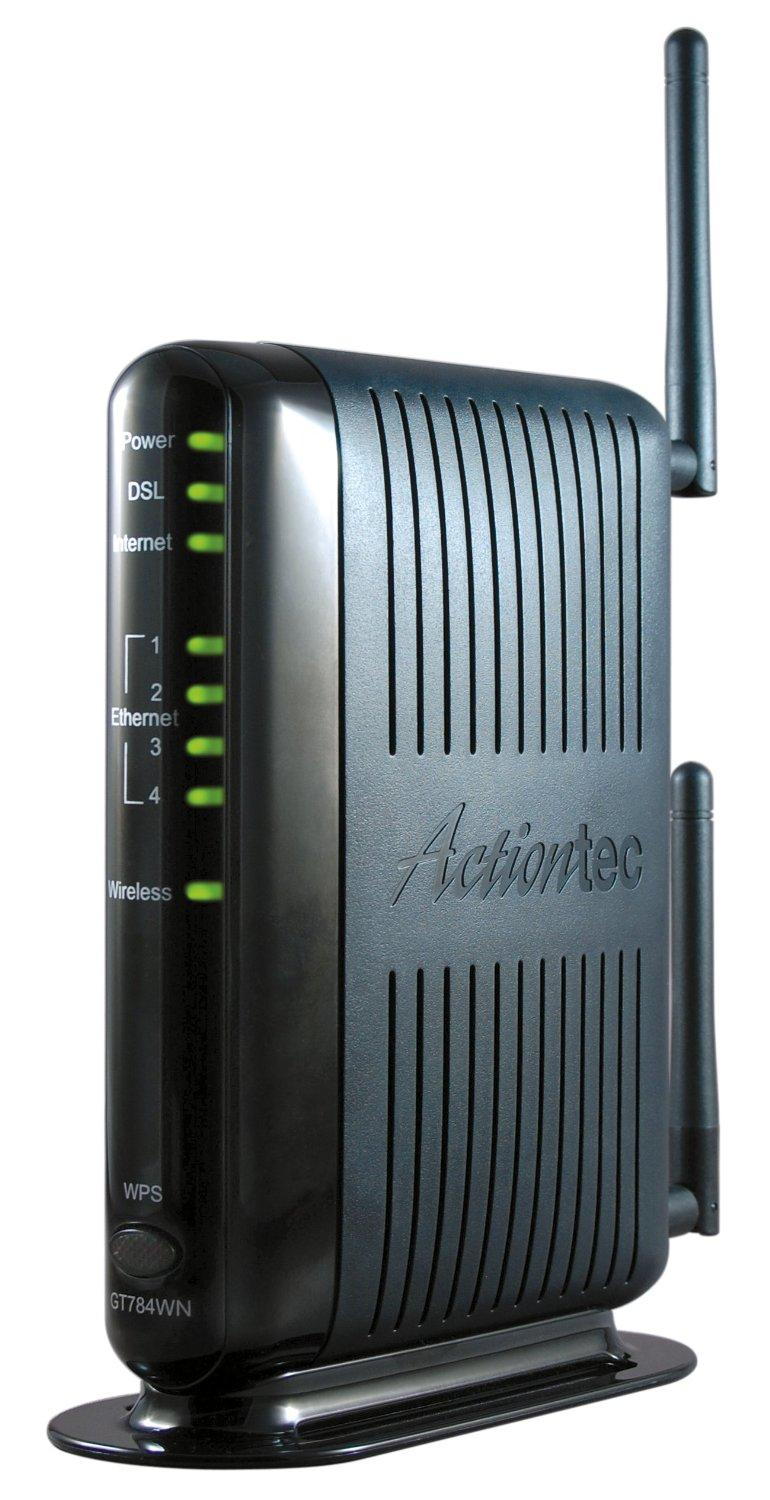 Router mobile et modems - Actiontec 300 Mbps Wireless N Adsl Modem Router Gt784wn