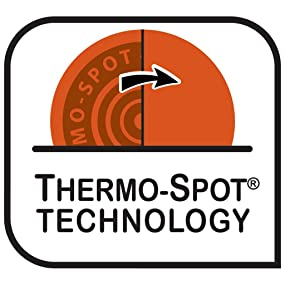 Thermo-Spot Technology Indicates when Pan is Ready