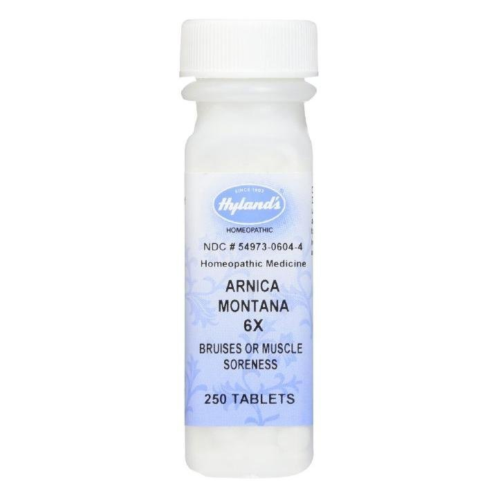 Arnica Tablets, Arnica Montana 6x by Hyland's, Natural Homeopathic Relief  of Bruises and