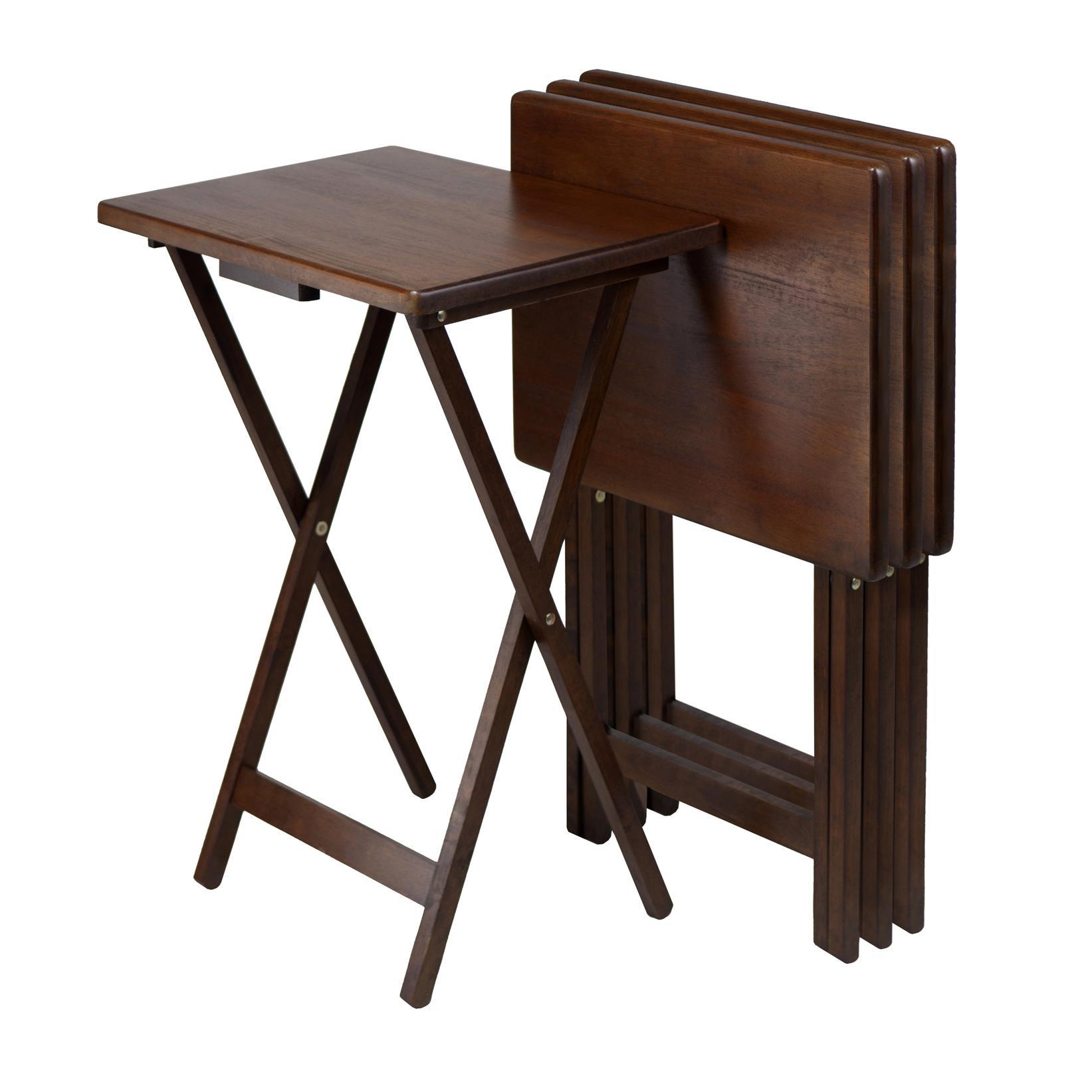 Amazon.com: Winsome Wood Snack Table, Antique Walnut Finish, Set of ...