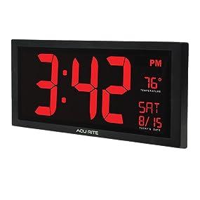 Amazon.com: AcuRite 75100 Large Digital Clock with Indoor