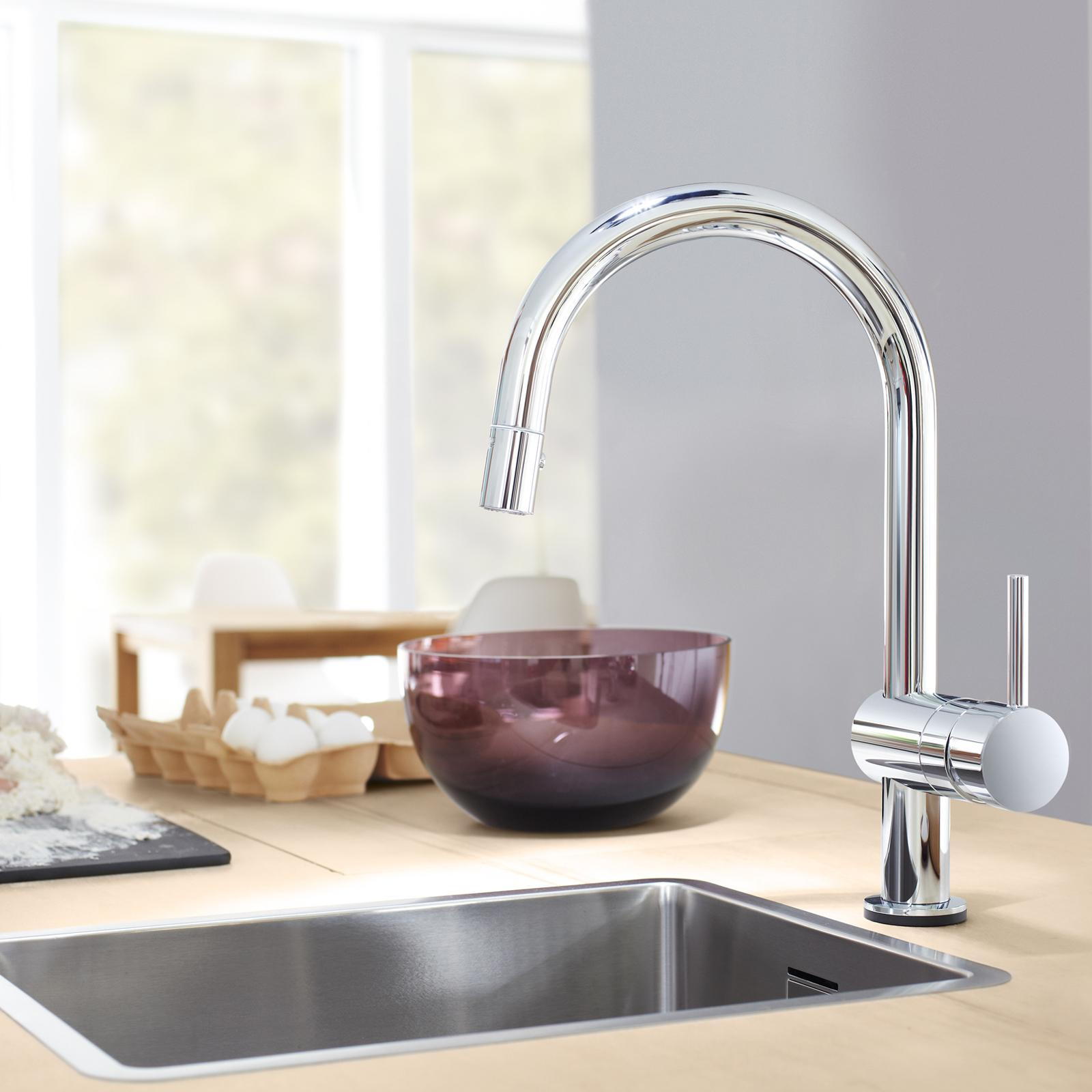 Grohe 31359DC0 Minta Touch-Activated Electronic Single-Handle ...