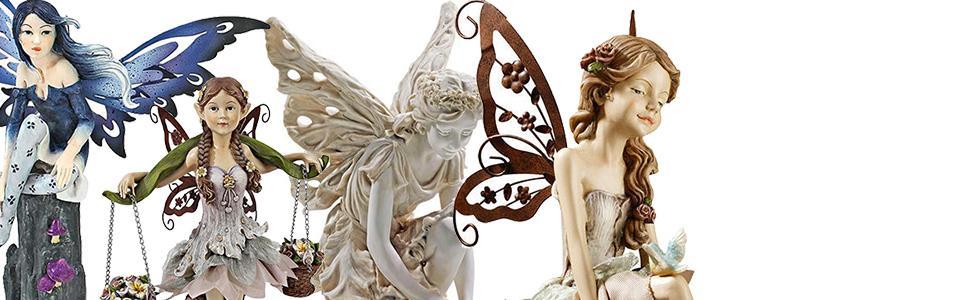 fairies, fairy statues, garden fairies