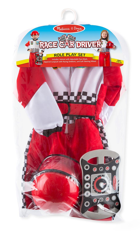 Amazon Com Melissa Doug Race Car Driver Role Play Costume Set 3