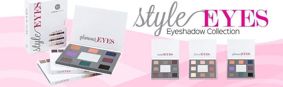 Coastal Scents styleEYES eye shadow collection