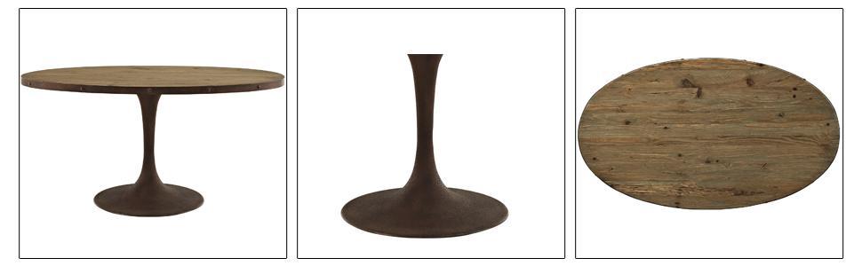 Amazon.com: Modway Drive parte superior de madera mesa de ...