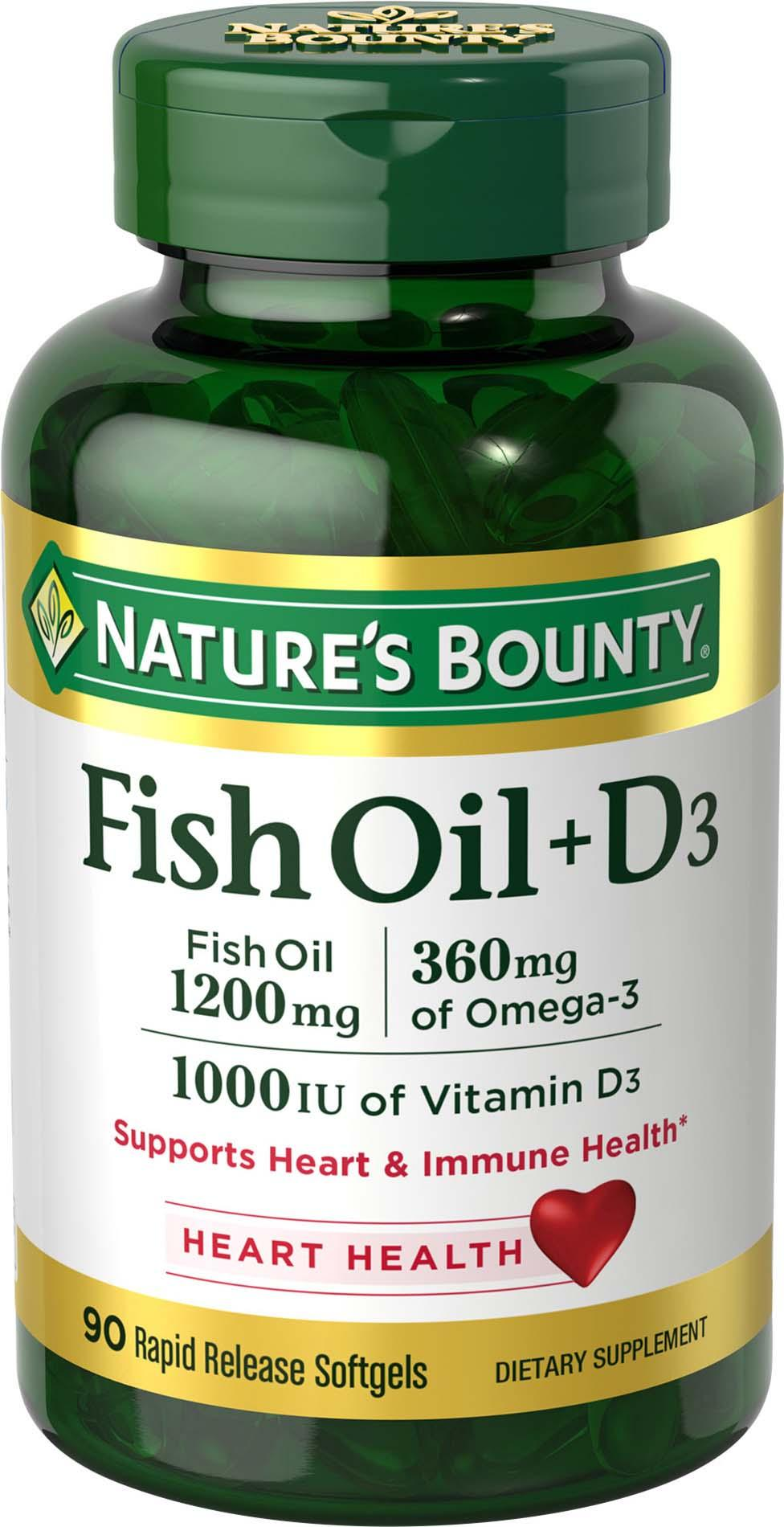 Nature S Bounty Fish Oil  Mg Amazon