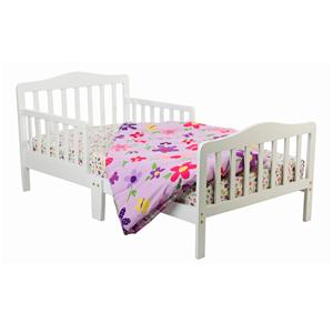 Dream On Me Classic Design Toddler Bed Cool grey