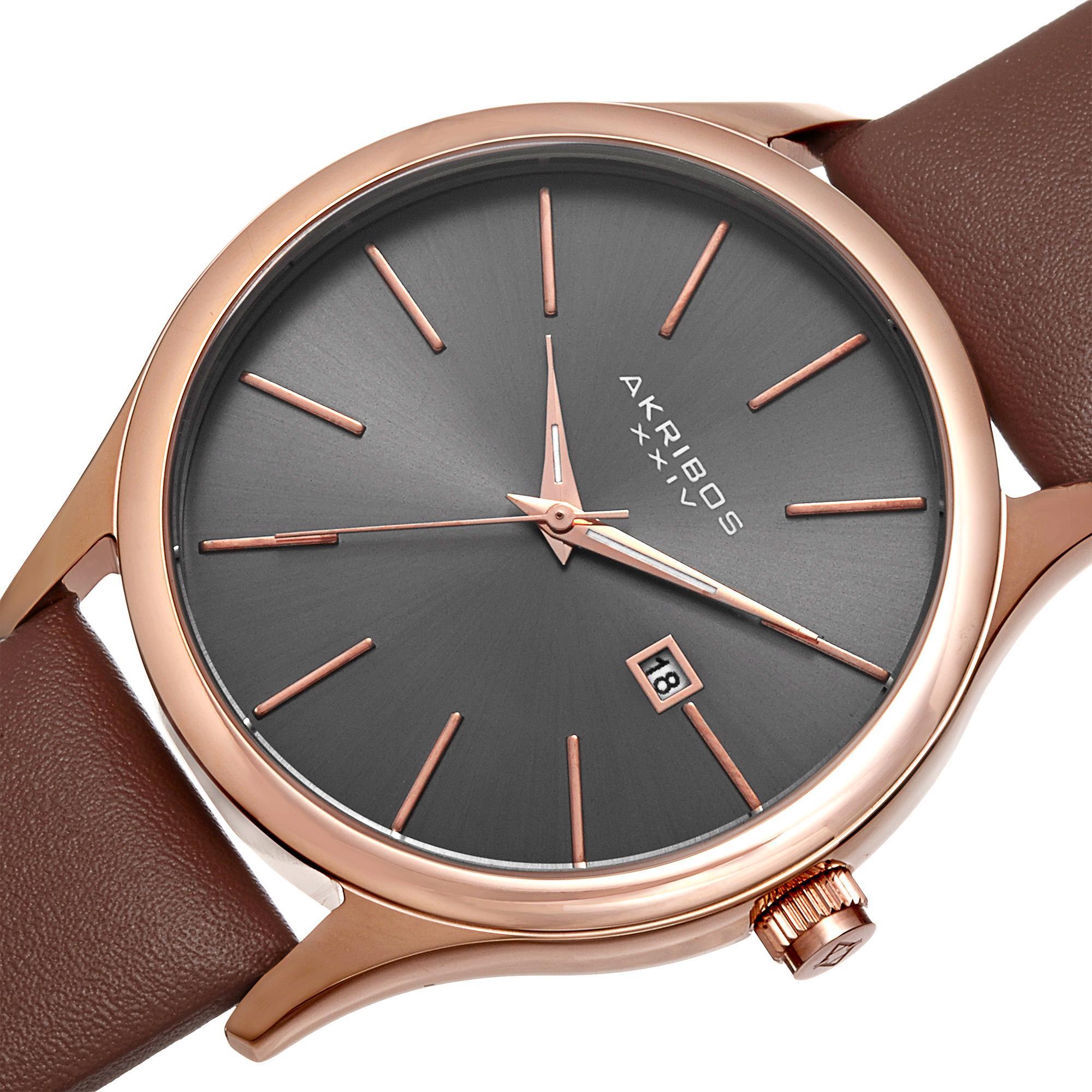 da5a7cff7 Amazon.com: Akribos XXIV Men's AK618RG Essential Dress Watch: Watches