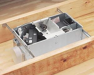 NuTone 665RP Heater/Fan/Light, 1300-Watt Heater, with 100-Watt Incandescent Light, 70-CFM