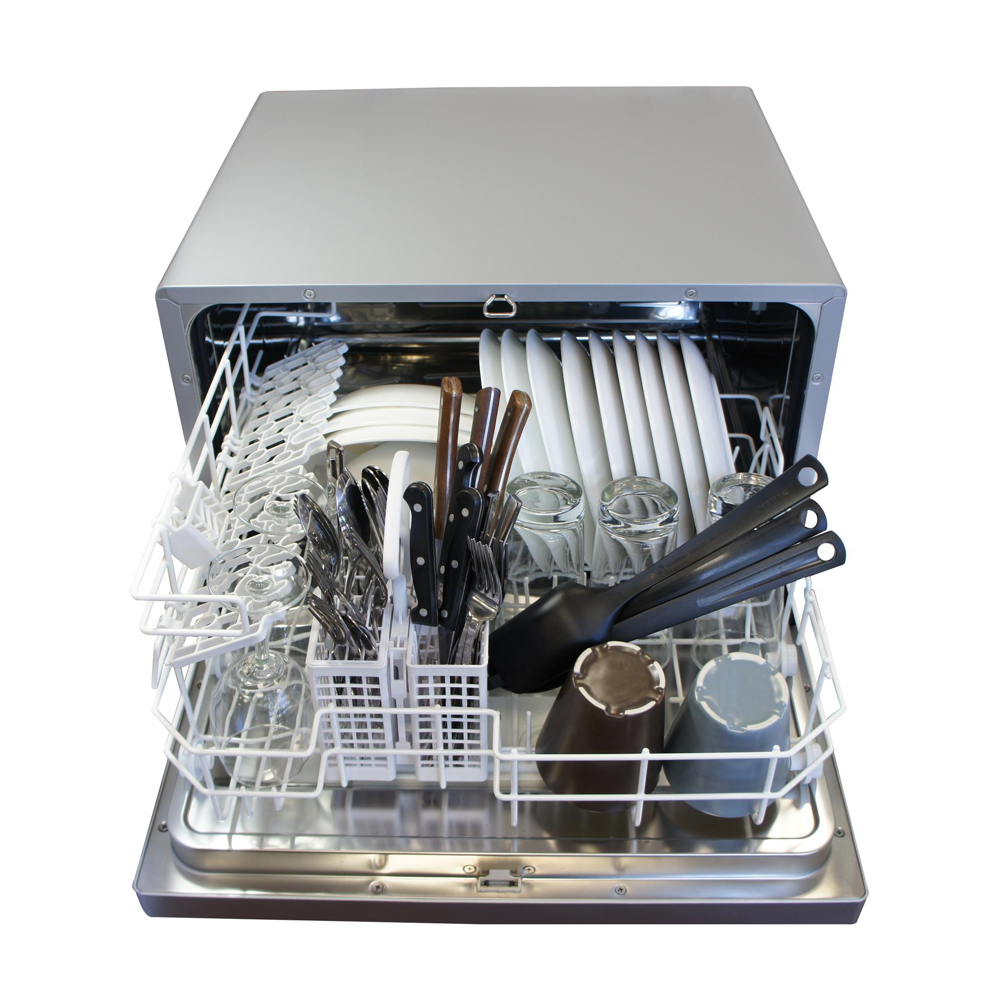 Small Dish Washer Spt Countertop Dishwasher Silver Amazonca Home Kitchen