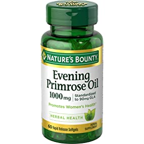 Nature's Bounty Evening Primose Oil 1000 mg, 60 Softgels