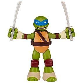 Teenage Mutant Ninja Turtles Stretch N Shout Leonardo Figure