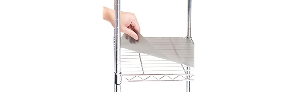 Outstanding Seville Classics 2 Individual Smoke Gray Fitted Shelf Liners Designed To Fit 17 X 35 Wire Shelves Home Interior And Landscaping Ologienasavecom