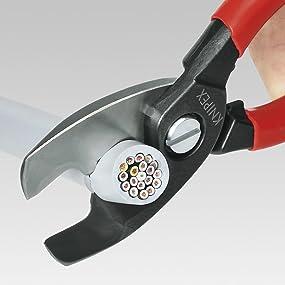 Knipex Câble Ciseaux Avec Double Coupe Isolé Longueur 200 mm Chromé 9516200