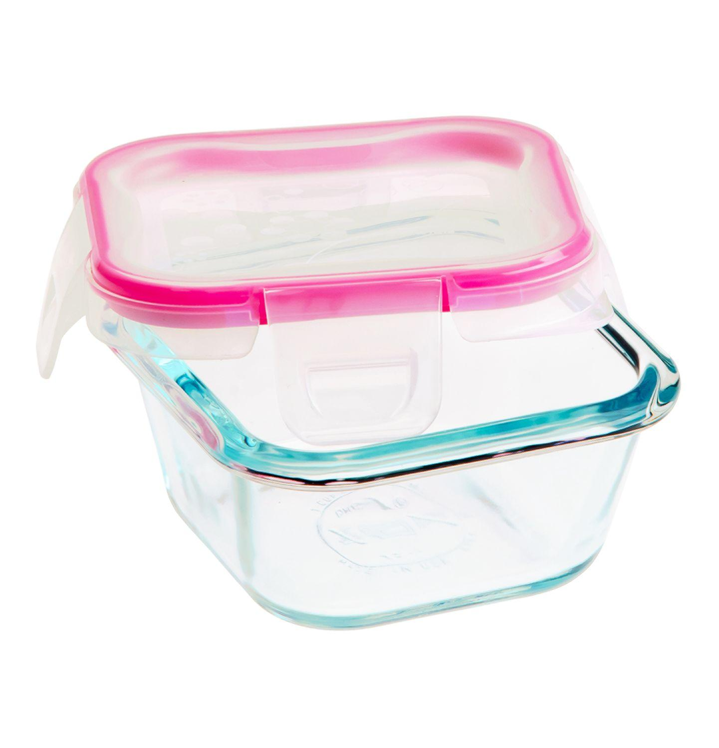 Amazoncom Snapware 1109328 6 Piece Glass Square Container Set with