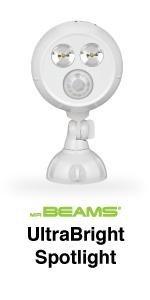 mr beams ultrabright spotlight, mb380, bright led spotlight, outdoor spotlight