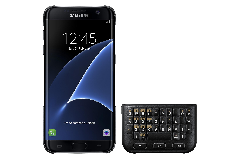 4004928012a Amazon.com: Samsung Galaxy S7 edge Keyboard Cover - Black: Cell ...