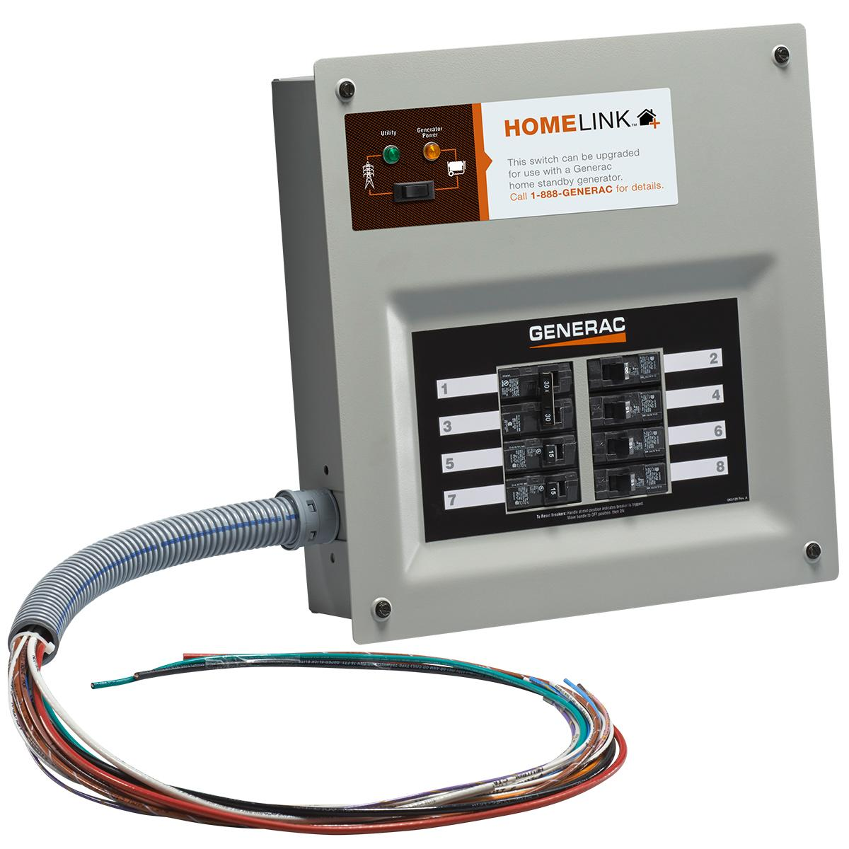 Generac 6852 Home Link Upgradeable Transfer Switch Kit Generator Wiring View Larger