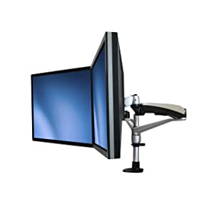 """StarTech.com Dual Monitor Stand – Tool-less Assembly – Monitors up to 30"""" – VESA Mount – Adjustable Monitor Arm"""