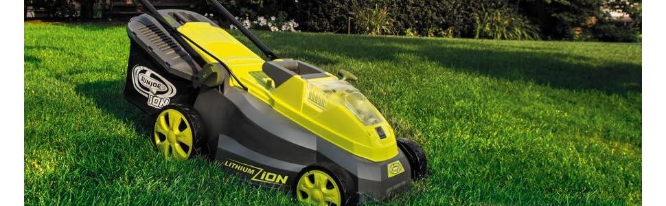 Sun Joe Lawn Mower 16in Electric Cordless Yard Push Walk Lightweight iON16LM NEW