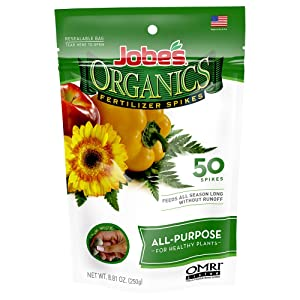 Organic all purpose fertilizer spikes Jobe's slow release time-released
