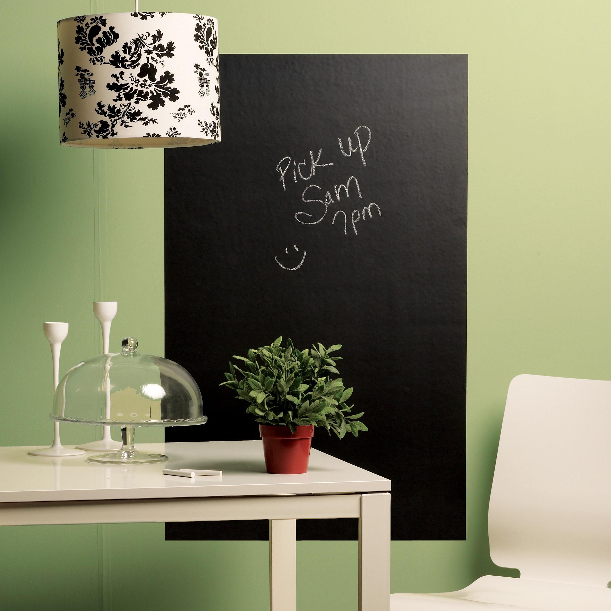 Chalkboard Panels 4 Wall/'s Slate Gray Black Board Chalk Wall Mural Sticker Decal