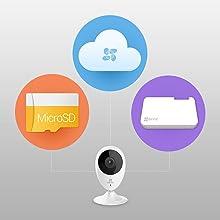 Opciones de almacenamiento en la nube, almacenamiento local, almacenamiento en red