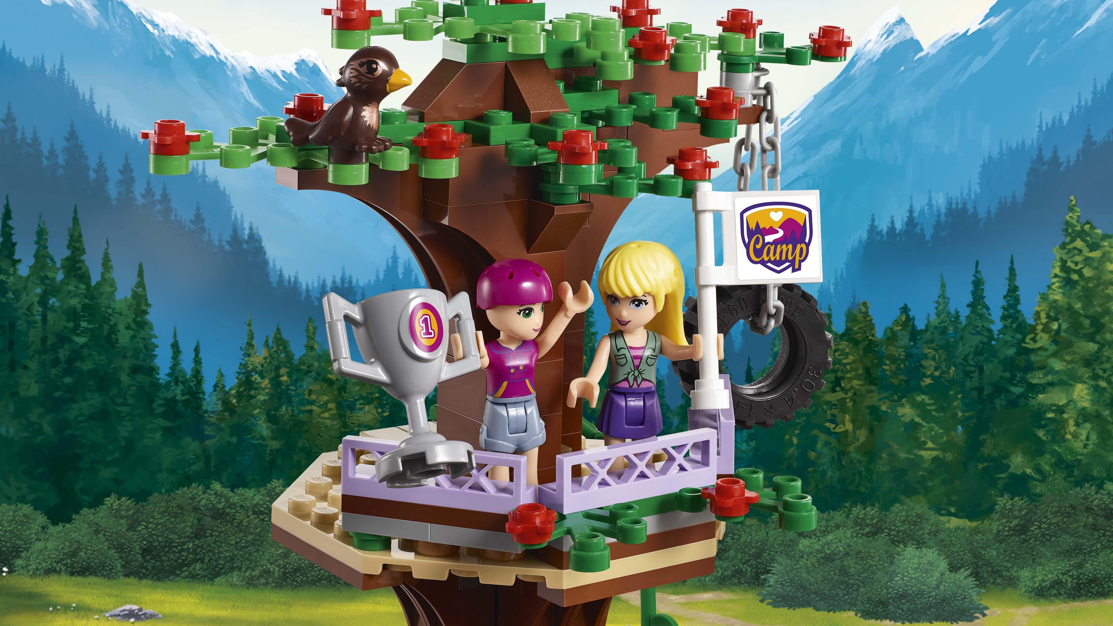 LEGO Friends Adventure Camp Tree House Building Kit (726 ...
