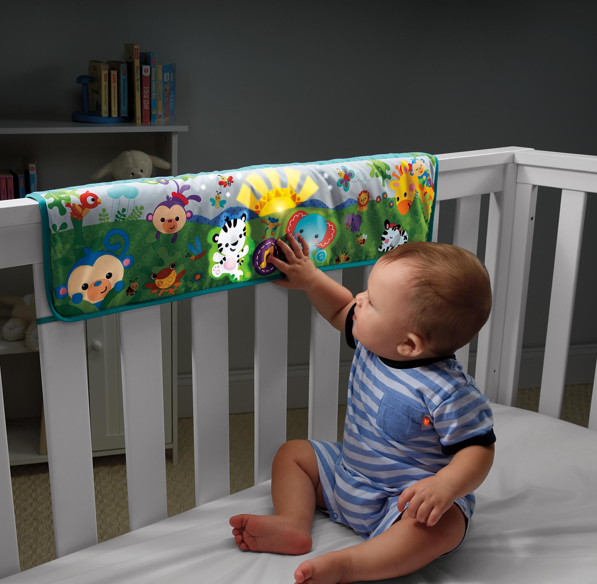 Amazon Com Fisher Price Twinkling Lights Crib Rail