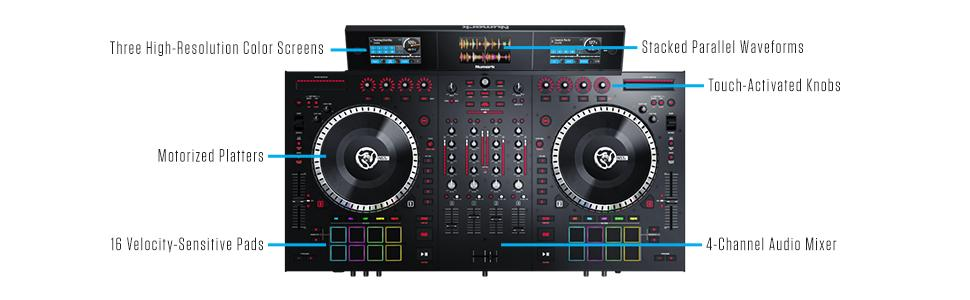 NS7III,Numark,DJ controller,screens,club dj,wedding dj,party dj,4 deck,controller,vinyl,DVS,FX,DJ,