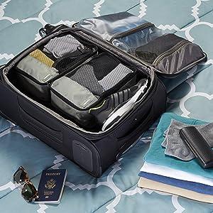 AmazonBasics Packing Cubes - Small (4-Piece Set)