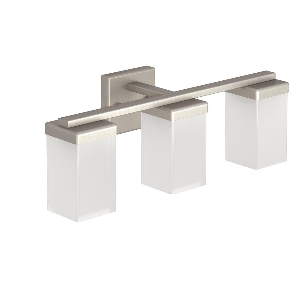Moen Yb8863ch 90 Degree Chrome Vanity Light Bathroom Lighting: Moen YB8863BN 90 Degree Three Globe Bath Lighting, Brushed Nickel