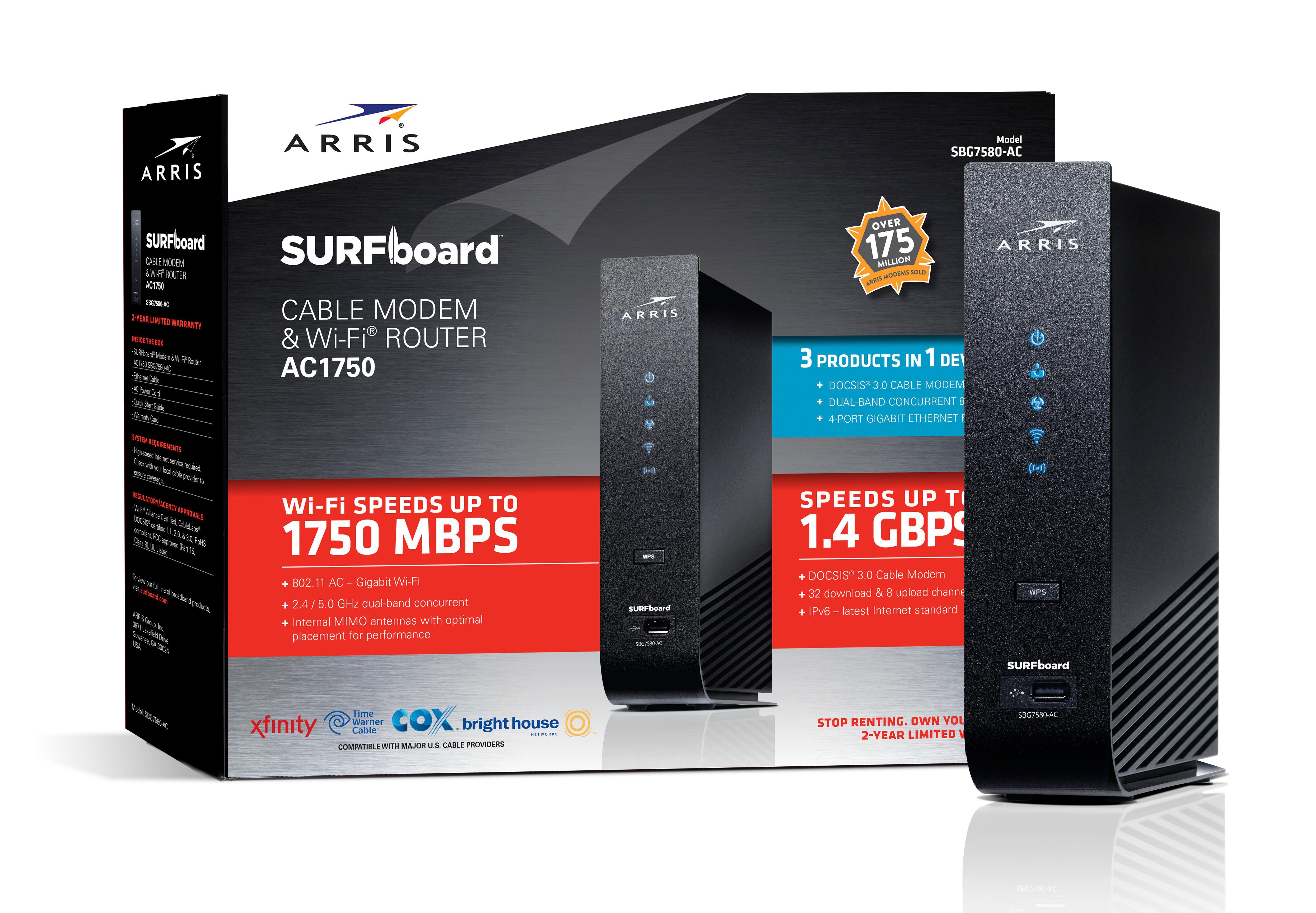 motorola surfboard. sbg7580-ac wi-fi cable modem motorola surfboard d
