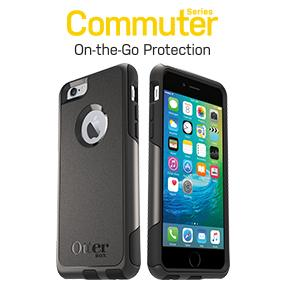 the latest ad7be fb8b3 OtterBox Commuter Series iPhone 6/6s Case - Frustration Free Packaging -  Black