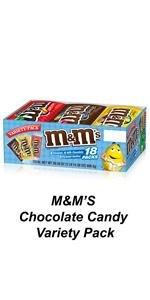 Share a box of Mamp;M'S Full Size pouches in assorted chocolate candy flavors.
