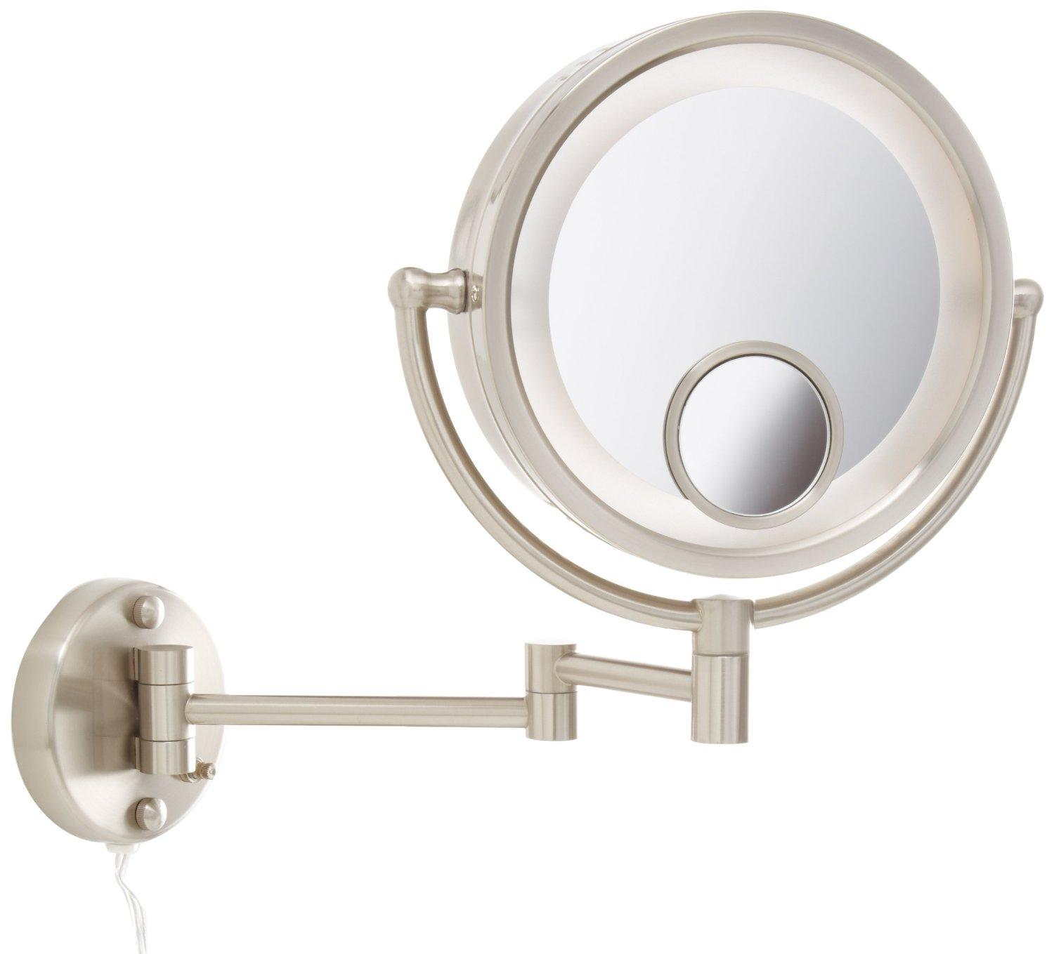 Jerdon HL8515N 85 Inch Two Sided Swivel Halo Lighted Wall Mount