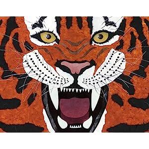 tiger, art, book, creature features