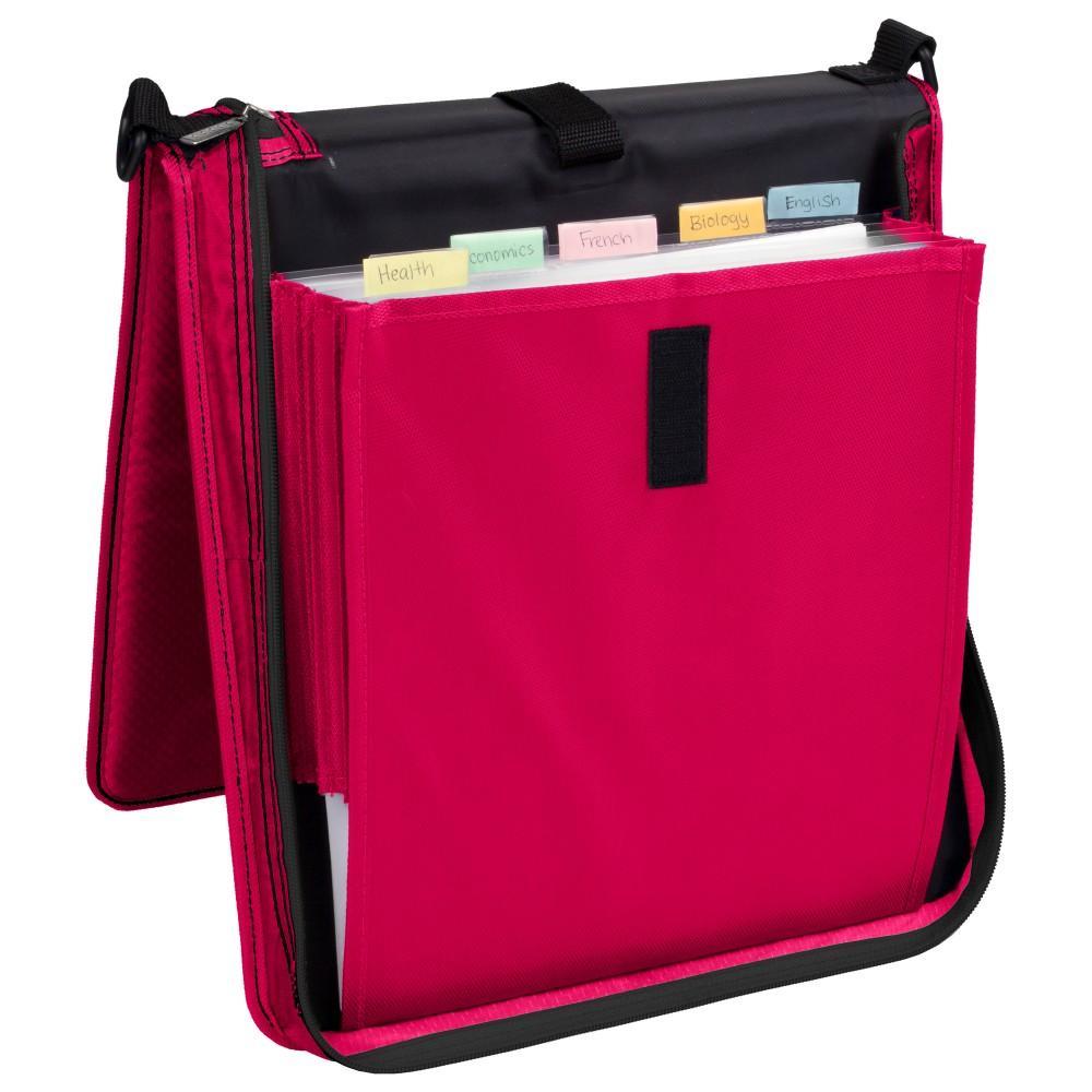 amazon com five star 2 inch zipper binder vertical flip durable