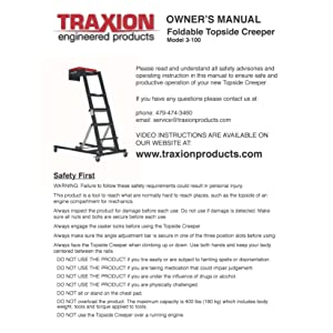 Traxion 3-100 Foldable Topside Creeper