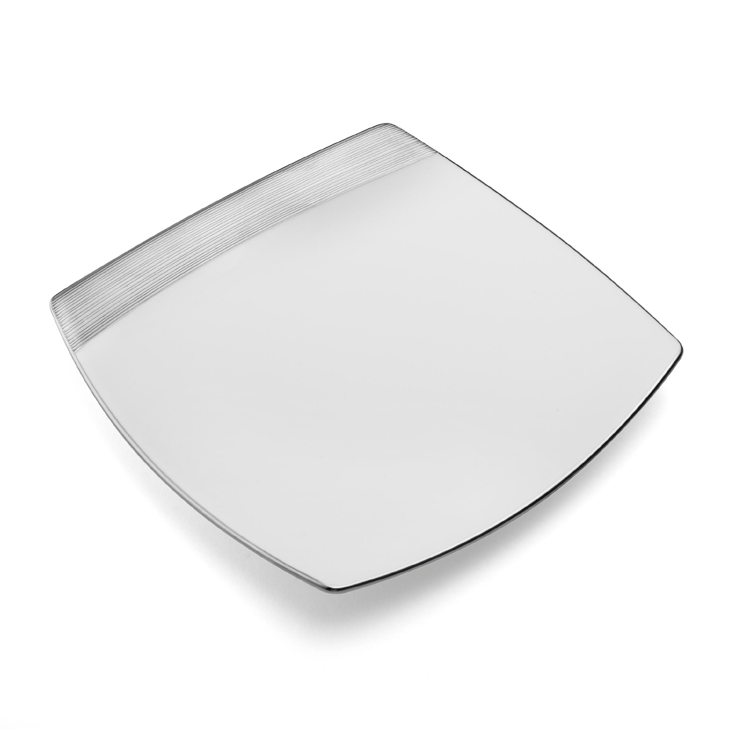 mikasa ridge square platinum dinner plate 10. Black Bedroom Furniture Sets. Home Design Ideas